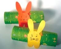Des ronds de serviette lapin