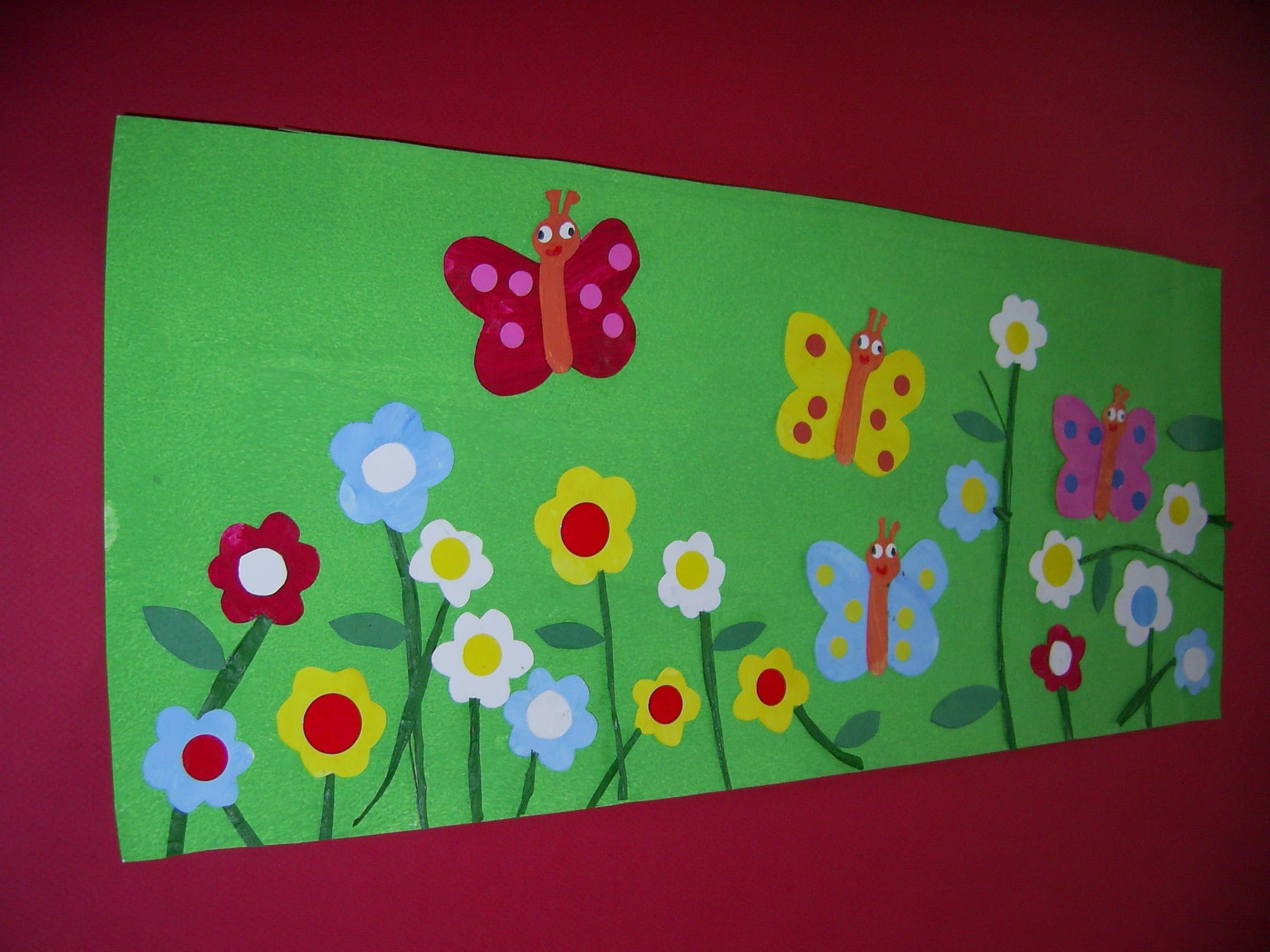 photo tableau fleurs maternelle