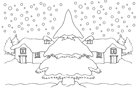 Coloriage De La Neige Qui Tombe Noel 2018